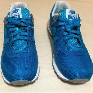 New Balance Women's 574 Vivid Ozone Blue Sneakers
